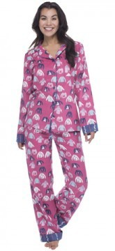 "Munki Munki Women's ""Holiday Sweaters"" Classic Flannel Pajama Set"