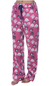 Munki Munki Women's Holiday Sweaters Flannel Pajama Pant