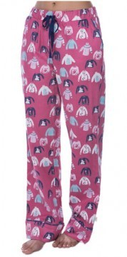 Munki Munki Women's Holiday Sweaters Flannel Pajama Pant