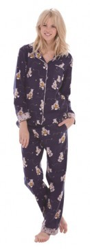 Munki Munki Women's Honey Bears Classic Flannel Pajama Set