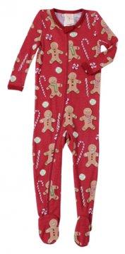 Munki Munki Infant Red Gingerbread Thermal Blanket Sleeper