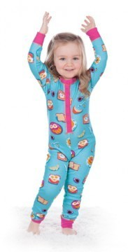 Munki Munki Kids Breakfast In Bed Union Suit