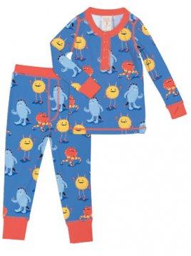Munki Munki Kids Furry Monsters Long John Set