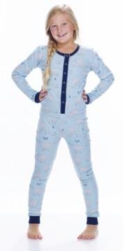 Munki Munki Kids Blue Polar Bears Union Suit