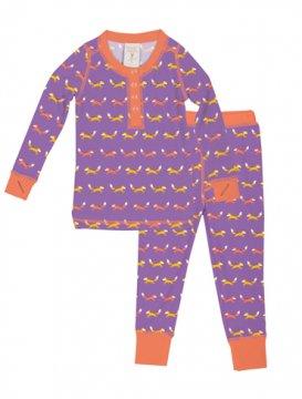 Munki Munki Kids Teeny Foxes Long John Set