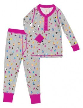Munki Munki Kids Teeny Mittens Long John Set