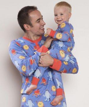 Munki Munki Men's Furry Monsters Jogger Pajama Set