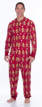 Munki Munki Men's Red Gingerbread Thermal Union Suit