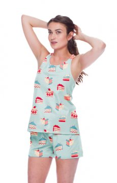 Munki Munki Women's Piece of Cake Jersey Tank and Short Set