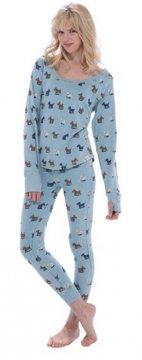 Munki Munki Scotties Vintage Washed Thermal Scoop Neck Pajama Set