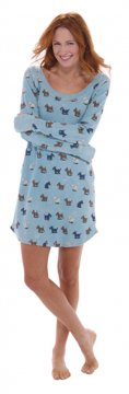 Munki Munki Scotties Vintage Washed Thermal Scoop Neck Nightshirt