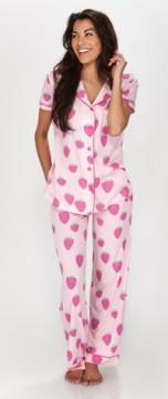 Munki Munki Women's Strawberry Bop Short Sleeve Jersey Classic PJ Set