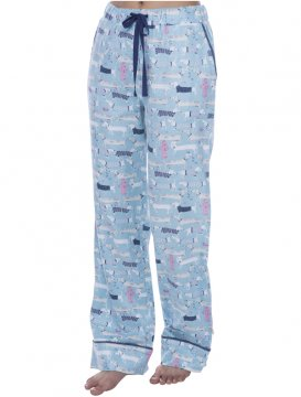 Munki Munki Women's Sweater Dogs Flannel Pajama Pant