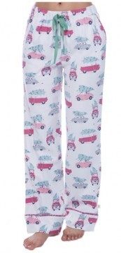 Munki Munki Women's Tree Shopping Flannel Pajama Pant