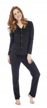 Munki Signature Black Sanded Jersey Classic Pajama Set
