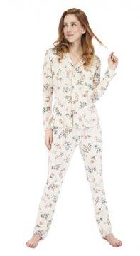 Munki Signature Botanical Floral Vintage Jersey Classic Pajama Set