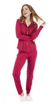 Munki Signature Scarlette Sanded Jersey Classic Pajama Set
