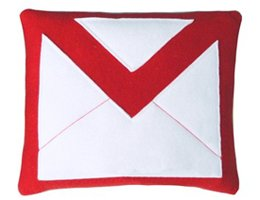 """Gmail"" Pillow from Craftsquatch"
