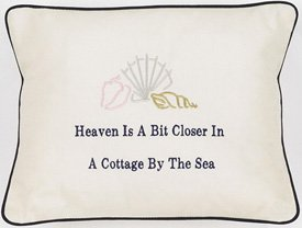 """Heaven Is A Bit Closer"" Cream Embroidered Gift Pillow"