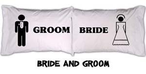 """Bride & Groom"" Pillowcase Set"