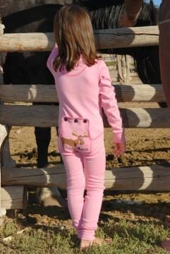 "Lazy One Kids Pink ""Moose Caboose"" FlapJack"
