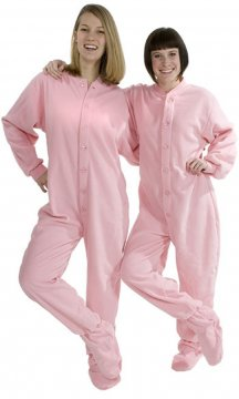 Big Feet Pajamas Adult Pink Fleece One Piece Footy