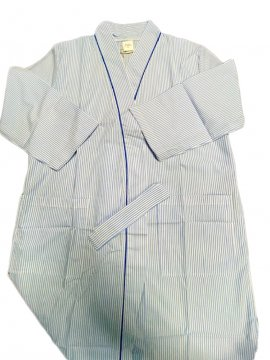 PJ Confidential Women's Zoe Cotton Robe in Blue Stripe