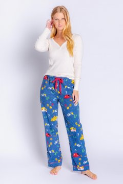 PJ Salvage Adventurer Flannel Pajama Pant in Navy