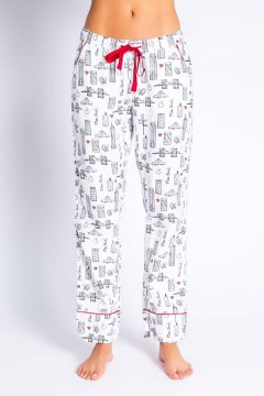 PJ Salvage You're The Apple of My Eye Flannel Pajama Pant in Cloud
