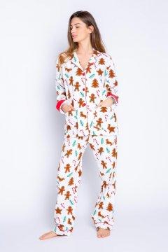 PJ Salvage Baking Spirits Bright Classic Flannel Pajama Set in Ivory