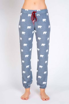 PJ Salvage Bear With Me Jersey Sleep Pant in Charcoal
