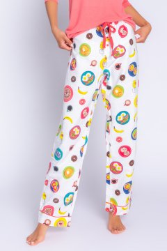 PJ Salvage Love You a Brunch Flannel Pajama Pant in Ivory