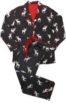 PJ Salvage Moose on Charcoal Classic Flannel Pajama Set
