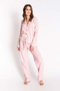 PJ Salvage Chelsea Rose Quartz Classic Flannel Pajama Set