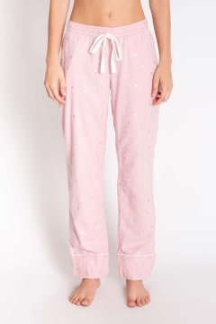 PJ Salvage Chelsea Rose Quartz Flannel Pajama Pant