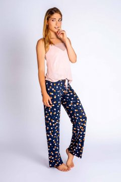 PJ Salvage Confetti Chic Cotton Jersey Pajama Pant in Navy