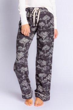 PJ Salvage Go Wild Flannel Pajama Pant in Slate
