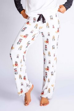PJ Salvage Hipster Hounds Lounge Pant in Ivory