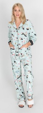 PJ Salvage That's How I Roll Classic Flannel Pajama Set in Mint