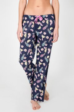 PJ Salvage Fruit Playful Print Cotton Pajama Pant in Navy