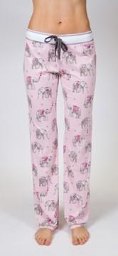 PJ Salvage Women's Playful Prints Elephants Cotton Pajama Pant in Pink
