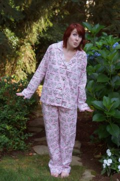 PJ Salvage Playful Prints Owls in Pink Lightweight Cotton