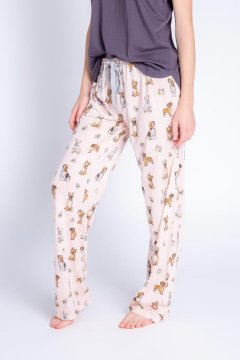 PJ Salvage Playful Prints Dog Love Cotton Jersey Pajama Pants in Blush
