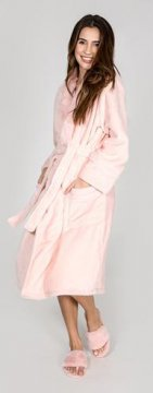 PJ Salvage Luxe Plush Robe in Blush