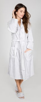PJ Salvage Luxe Plush Robe in Silver