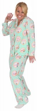 PJ Salvage Women's Soda Pop Playful Print Cotton Pajama Set in Mint