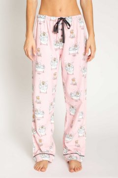 PJ Salvage SPaw Day Flannel Pajama Pant in Blush