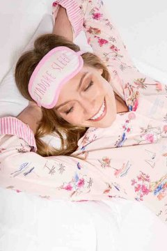 PJ Salvage Tropic Playful Print Cotton Pajama Set in Pink