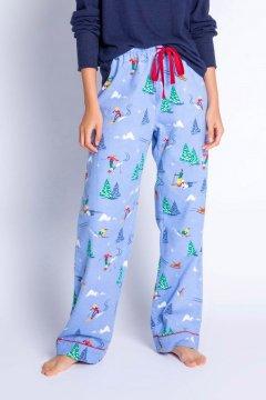PJ Salvage Vitamin Ski Flannel Pajama Pant in Powder Blue
