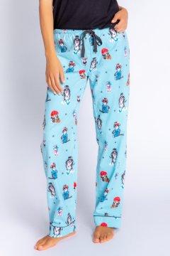 PJ Salvage You Rock Flannel Pajama Pant in Aqua